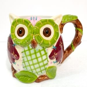 Olli the Owl Pier 1 Imports hand painted figural mug cup